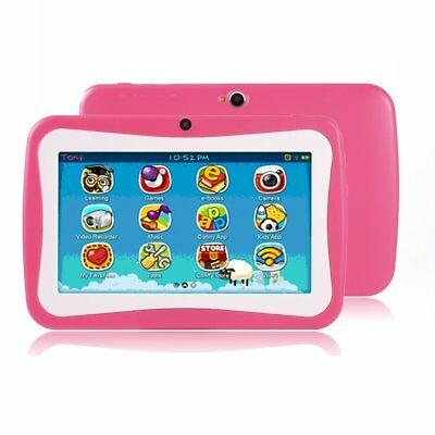 Quad Core 7Inch 8GB Kids Tablet PC Android4.4 Dual Camera HD WiFi Bundle Case NC