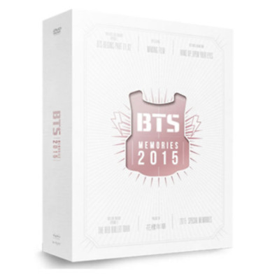 BTS Memories of 2015 DVD 4 DISK Edition KPOP Tracking Number with Free Gift