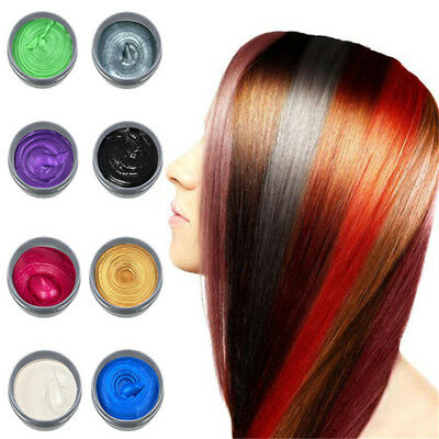 8 Colors Unisex DIY Hair Clay Wax Mud Dye Cream Temporary Modeling Colouring Mud