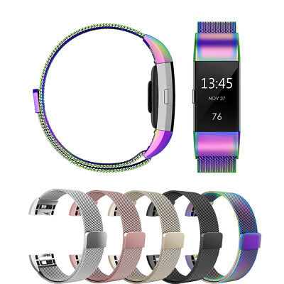 Replacement Milanese Band for Fit bit Charge 2 Strap with Magnetic Closure Clasp