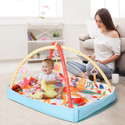 Baby Infant Fitness Play Mat 3 In 1 Lay Play Gym Activity Mat 5 Toys and Music