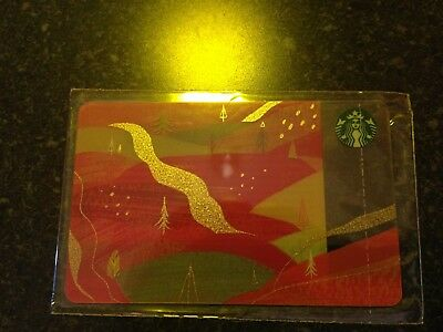 NEW! RUSSIA, STARBUCKS RUSSIAN CARD Autumn 2018, Red Forest,SEALED