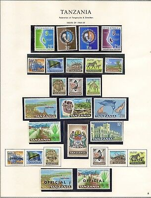 Tanzania Mnh 1965 To 20/-, 1967-73 To  20/- + Officials