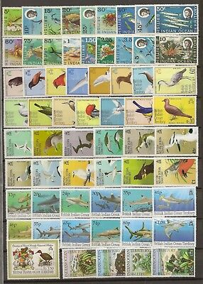 British Indian Ocean Territory 1968-94 Mnh Colln Inc 4 Defin Sets