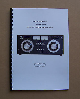 Nye Viking MB-V-A 3KW Antenna Tuner Instruction Manual & CD