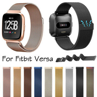 For Fitbit Versa Milanese Watch Band Strap Wrist Magnetic Stainless Steel Loop A