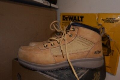 6a0599525c0 SITE SANDSTONE SAFETY Trainer Boots Wheat S1 P Src Size Uk 8 Eu 42 - Aa319