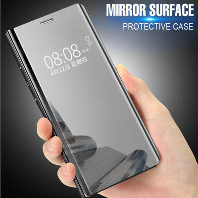 Clear View Mirror Flip Stand Case Cover For Xiaomi Mi 6 8 SE A1 Redmi Note 5 Pro