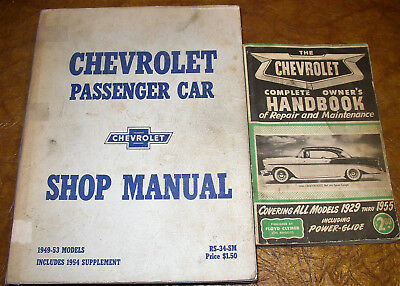 1954 chevrolet shop manual