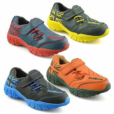 Boys Kids Childrens Leather Casual Touch Strap Sports Running Trainers Shoe Size