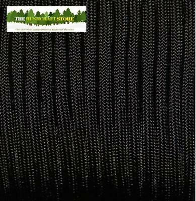 MIL-C-5040 US MILITARY ISSUE 550 PARACORD - Black - NOT A CHINESE FAKE!