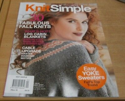 Knit Simple magazine Fall 2018 Fabulous Fall knits + Log Cabin blankets & more