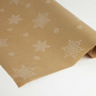 Kraft Paper With Christmas patern 50cm x 125m Roll Christmas in 3 colors