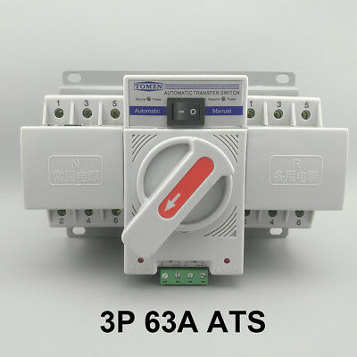 3P 63A 380V MCB type Dual Power Automatic transfer switch ATS