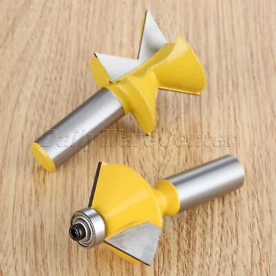 90 Degree Tongue Groove Joints Milling Cutters Edge Banding Router Bits 2pcs/set