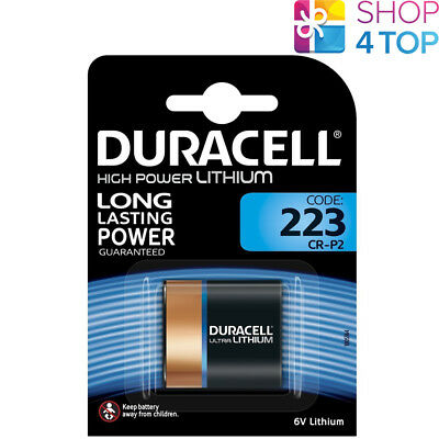 Duracell 223 Cr-P2 High Power Lithium Battery 6V Dl223 El223Ap Exp 2027 New