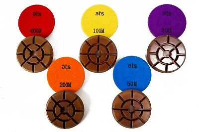 "Pro 75mm (3"") Typhoon Copper Dry Diamond Polishing pucks pads for concrete"