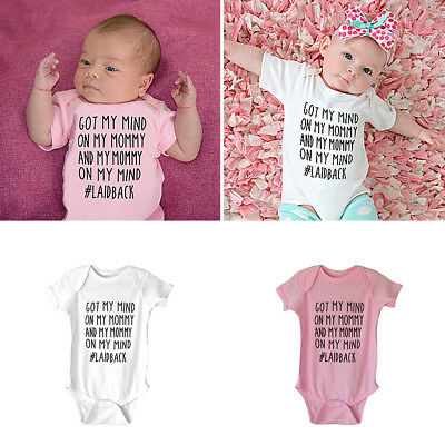CN_ Newborn Infant Baby Boy Girl Romper Got My Mind Jumpsuit Clothes Outfit Ra
