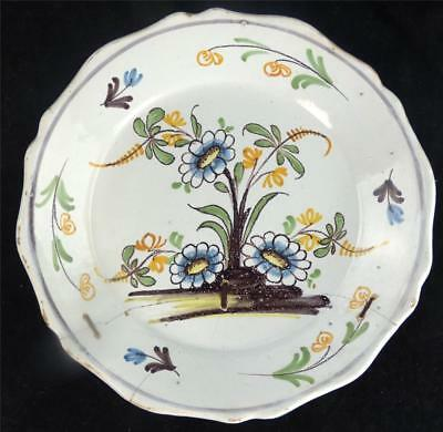Antique 18Th Century French Faience Plate Nevers Nevernais