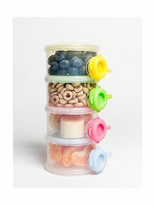 OceanBaby 4 Twist Lock Stackable Container Non Spill Baby Formula Dispenser -...