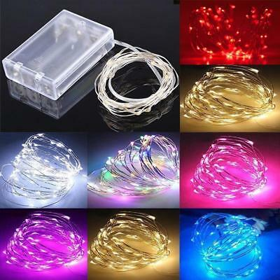 20/50/100 LED Battery Light Wire Copper Fairy String Christmas Lights Gift Party
