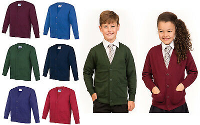 Kids School Jumper Cardigan Boys & Girls Academy Cardigan Pockets AC02J