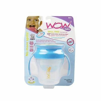 Wow Baby Wow Cup 360 Spill Free Training Cup - Blue/Yellow - 7 oz 7oz