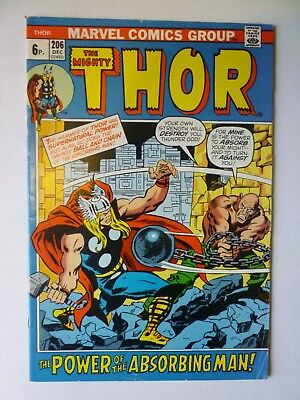 The Mighty Thor 206 1972 Marvel Comics Absorbing Man