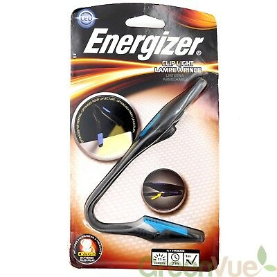 Energizer Clip Book Light for Reading, LED Reading Light for Books and Kindles,