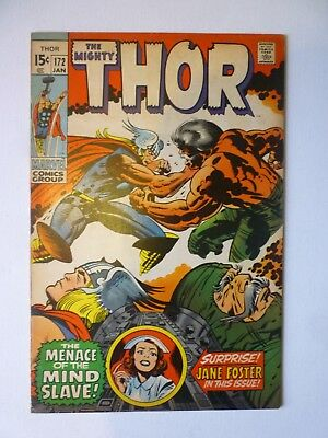 The Mighty Thor 172 1970 Marvel Comics Jane Foster