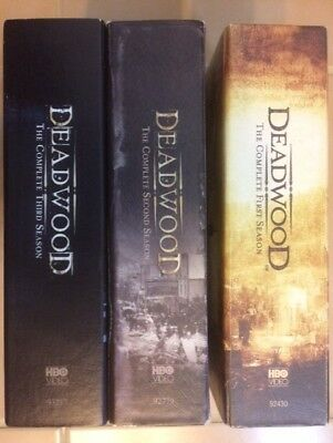 Deadwood: The Complete Series 1-3 set (18-disc DVD) Seasons 1 2 3 TV show lot
