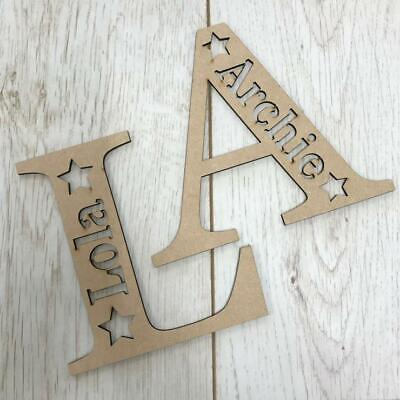 *ANY LETTER & NAME* Personalised wooden letter with name - Various sizes