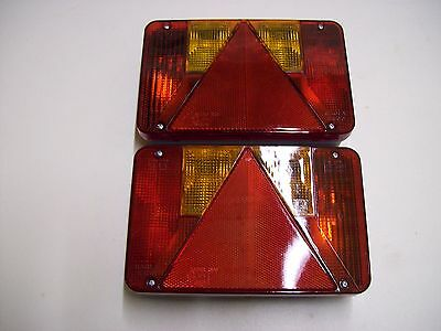 RADEX 6 function 5800 Rear Rectangular Combination Trailer Lights 12 volt