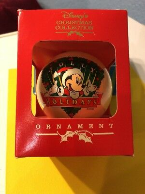 NIB Disney Glass Ball Christmas Coll.Ornament 1995 OR7 Mickey Ships Immediately!