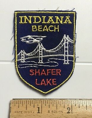 Shafer Lake Indiana Beach IN Resort Area State Souvenir Embroidered Patch Badge