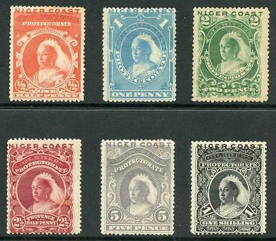Niger Coast Protectorate SG45/50 1894 Set of 6 (5d fault to right) M/Mint
