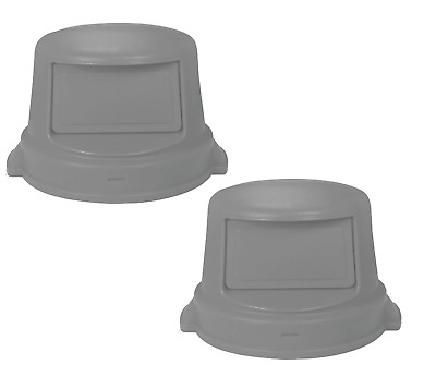 TWO COUNT - Tough Guy Round Dome Top Trash Can Top for 55 gal., Gray.