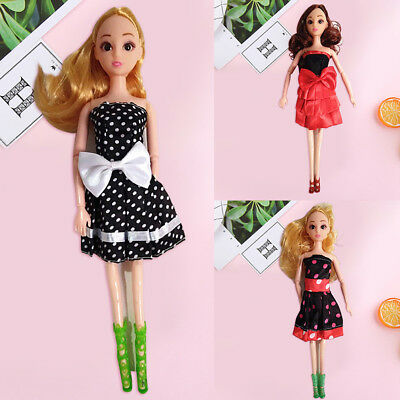 CN_11.5 Inch Evening Party Skirt Wedding Bowknot Dress for 30cm Doll Accessory