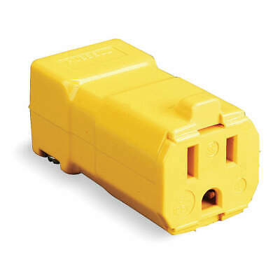 HUBBELL WIRING DEVICE-KELLEMS Nylon Connector,5-15R,15A,125V, HBL5969VY