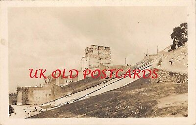GIBRALTAR -  Old Moorish Castle,  Real Photo
