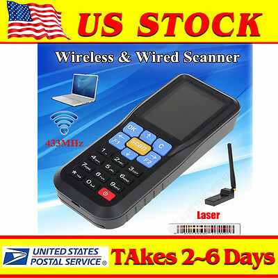 Handheld 433Mhz Wireless EAN13 UPC-A/E Barcode Scanner Data OBM Inventory system
