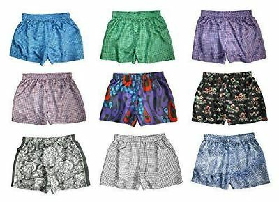 "Silk Boxer Shorts for Women - Assorted 3-Pack - L (34""-36"") - Silk Boxers Set"