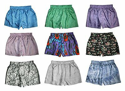 "Silk Boxer Shorts for Women - Assorted 3-Pack - M (31""-33"") - Silk Boxers Set"