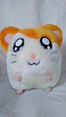 Hamtaro Plush Hamster Bank Orange White 6 inches tall HamHam 2002 Coin Slot