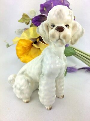 Vintage George Good White French Poodle Dog Figurine Porcelain Made in Japan
