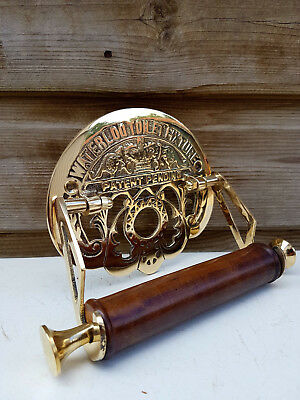 Victorian Toilet Roll Holder Unusual Novelty Vintage Retro Waterloo Brass
