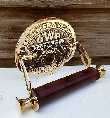 Toilet Roll Holder Novelty Vintage Retro GREAT WESTERN RAILWAY (GWR) Brass