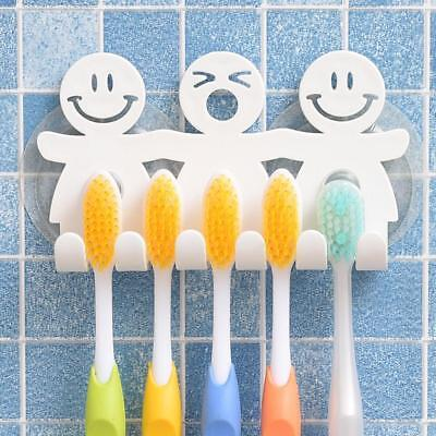 1Pcs Smile Face Bathroom Kitchen Toothbrush Towel Holder Wall Sucker Hook.