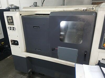 Used Hwacheon HITECH 200A CNC Turning Center Lathe Live Tool Fanuc Tailstock '06