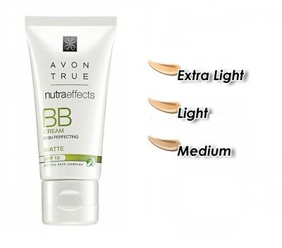 Avon BB Face Cream Nutra Effects SPF15 Matte Extra light, Light or Medium 30ml